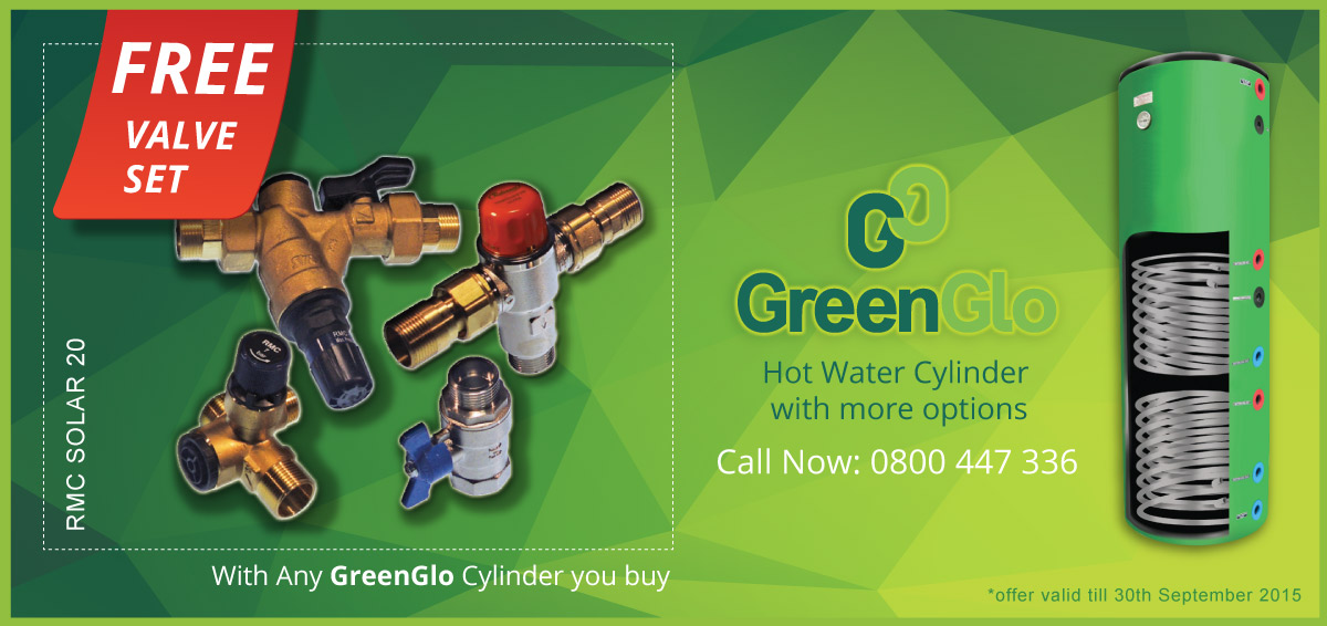 Free Valve kit with Greenglo Cylinders